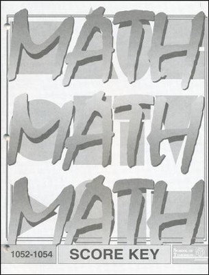 Latest Edition Math PACE SCORE Key 1052-1054  -