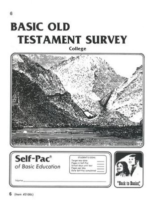 Old Testament Survey PACE 6, Grades 9-12   -