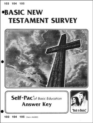 New Testament Survey Key 103-105  -