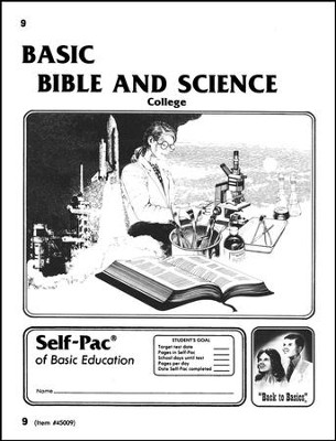 Bible And Science Self-Pac 9, Grade 9-12   -