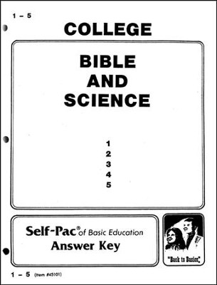 Bible And Science Key 1-5  -