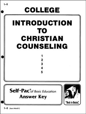 Introduction To Christian Counsel Key 1-5  -