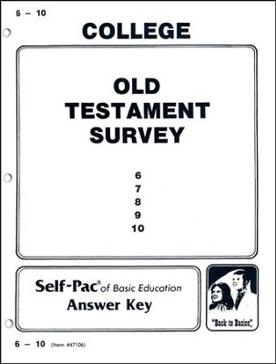 Old Testament Survey Self-Pac Key 6-10  -