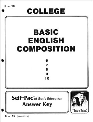 Basic English Composition Key 6-10   -