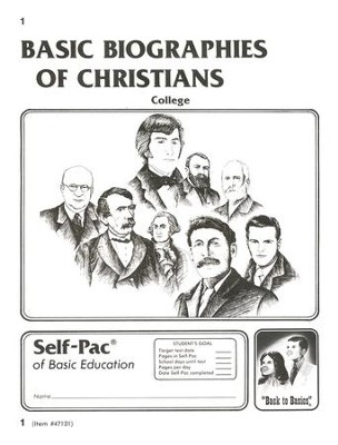 Biographies Of Christians Self-Pac 1, Grades 9-12   -
