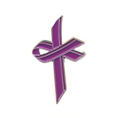 Awareness Cross Pin, Purple  -
