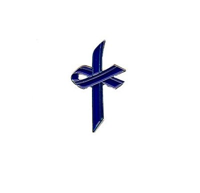 Awareness Cross Pin, Blue  -