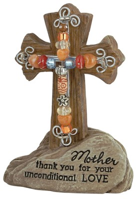 Mother Pedestal Beaded Cross  -