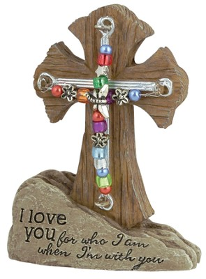 Love Pedestal Beaded Cross  -