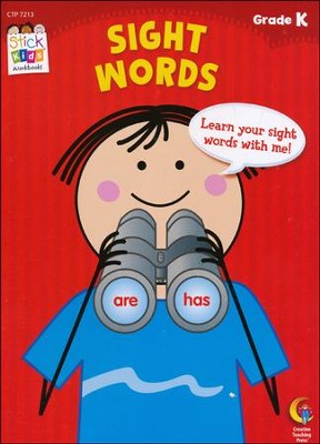 Sight Words Stick Kids Workbook Grade K   -