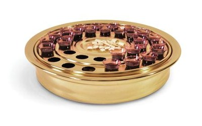 Brass-tone Whole Body Communion Tray   -