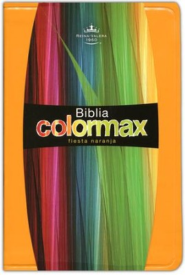 Biblia Colormax RVR 1960, Fiesta Naranja  (RVR 1960 Colormax Bible, Fiesta Orange)  -
