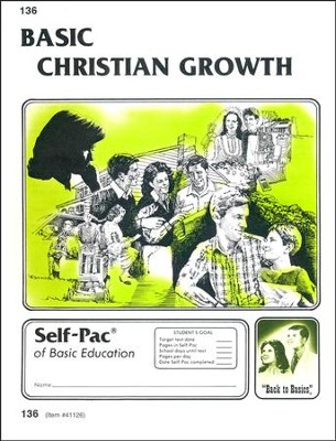 Christian Growth Self-Pac #136 BAsic Christian Growth - Slightly Imperfect  -