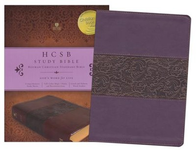 HCSB Study Bible, Mulberry Simulated Leather  - Slightly Imperfect  -
