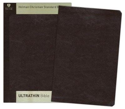 HCSB UltraThin Bible, Brown Simulated Leather  -