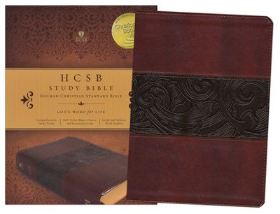 HCSB Study Bible--imitation leather, mahogany   -