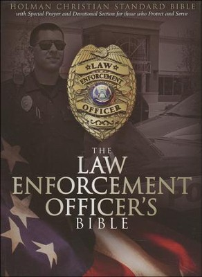 HCSB Law Enforcement Officer's Bible, Black Simulated Leather  -