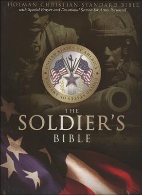 HCSB Soldier's Bible, Green Simulated Leather  -