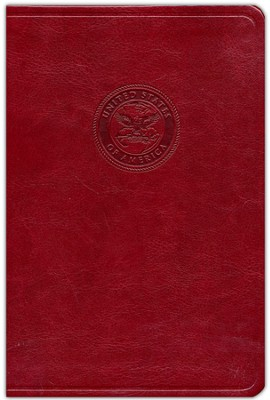 HCSB Marine's Bible, Burgundy Simulated Leather - Slightly Imperfect  -