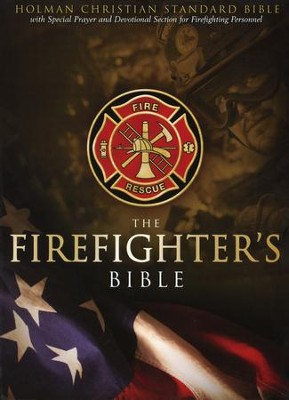 HCSB Firefighter's Bible, Red Simulated Leather  -