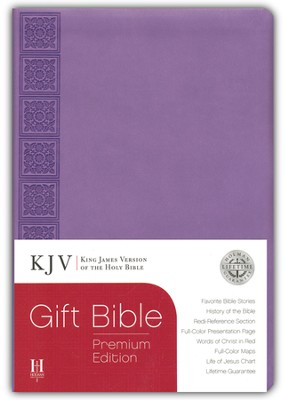 KJV Gift Bible, Premium Edition, Purple Simulated Leather  -