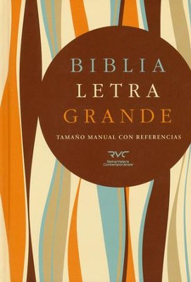 Biblia RVC Letra Gde. Tam. Manual, Tapa dura  (RVC Hand Size Giant Print Bible, Hardcover)  -