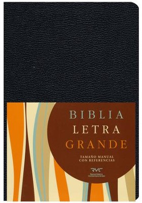 Biblia RVC Letra Gde. Tam. Manual, Piel Imit. Negra  (RVC Hand Size Giant Print Bible, Black Imit. Leather)  -