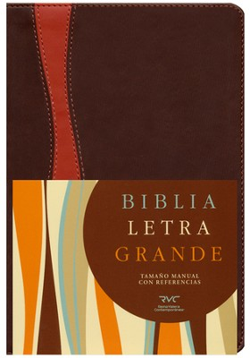 Biblia RVC Letra Gde. Tam. Manual, Piel Sim. chocolate/Cobrizo  (RVC Hand Size Giant Print Bible, Brown/Rust Sim. Leather)  -