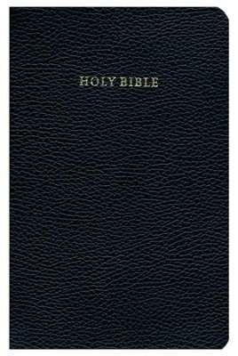 KJV Cambridge Concord Reference Bible--calf-split leather, black  -