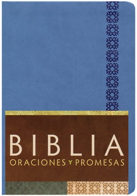 Biblia Oraciones y Promesas RVC, Piel Sim. Azul Cobalto  (RVC Prayers & Promises Bible, Cobalt Blue Sim. Leather)  -