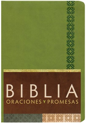 Biblia Oraciones y Promesas RVC, Piel Sim. Verde Manzana Ind.  (RVC Prayers & Promises Bible, Apple Green Sim. Leather Ind.)  -