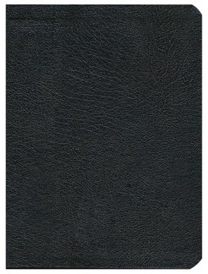 HCSB Apologetics Study Bible, Black Genuine Leather, Indexed - Imperfectly Imprinted Bibles  -