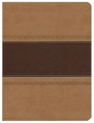 HCSB Apologetics Study Bible, Brown & Tan Simulated Leather - Imperfectly Imprinted Bibles  -