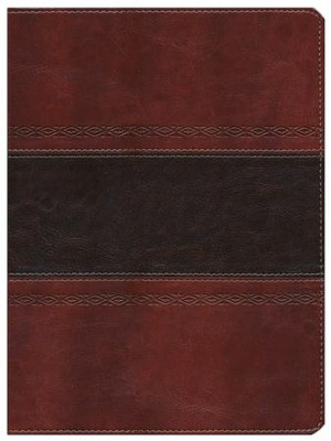 HCSB Apologetics Study Bible. Mahogany Simulated Leather - Imperfectly Imprinted Bibles  -