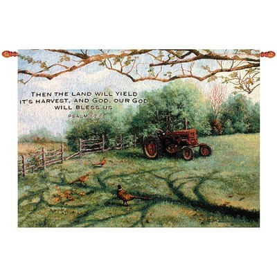 The Land Will Yield Its Harvest, Tractor Wallhanging  -     By: Judy Richardson
