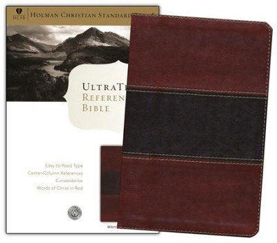 HCSB UltraThin Reference Bible, Mahogany Simulated Leather  -