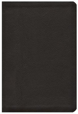 HCSB Large Print UltraThin Reference Bible, Black Genuine Calfskin Leather  -
