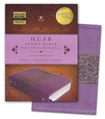 HCSB Study Bible, Mulberry Simulated Leather, Thumb-Indexed  -