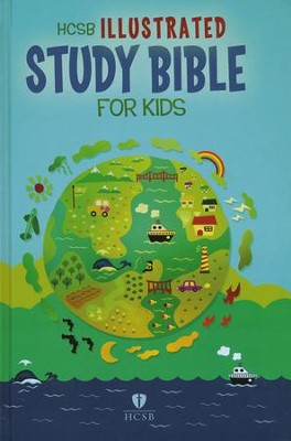 HCSB Illustrated Study Bible for Kids, Hardcover - Slightly Imperfect  -