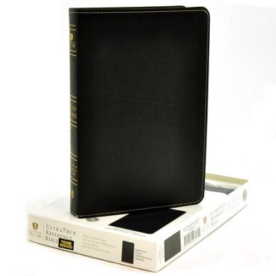 HCSB UltraThin Reference Bible, Black Mantova imitation leather, indexed  -