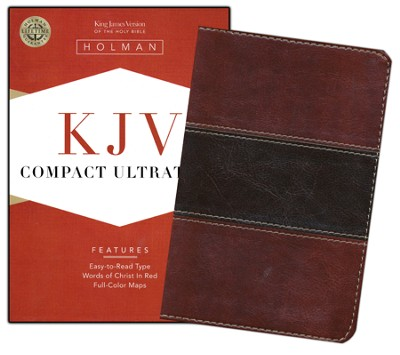KJV Compact UltraThin Bible, Mahogany imitation leather  -