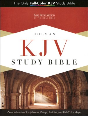 KJV Study Bible, Blue/taupe soft leather-look, indexed  -