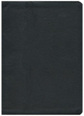 KJV Study Bible--genuine cowhide leather, black  -