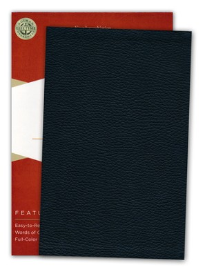 KJV UltraThin Reference Bible--genuine leather, black (indexed)  -