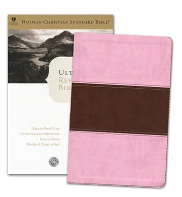 HCSB UltraThin Reference Bible, Pink/Brown Duotone LeatherTouch, Indexed  -