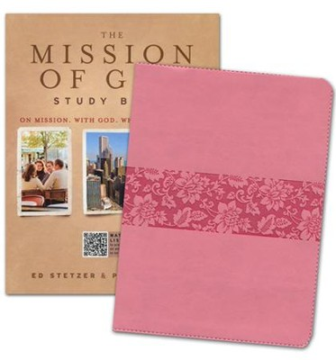 HCSB The Mission of God Study Bible-soft leather-look,  cameo rose  -
