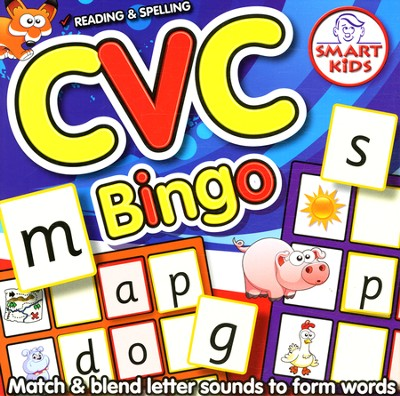 CVC Bingo Game: Reading and Spelling   -