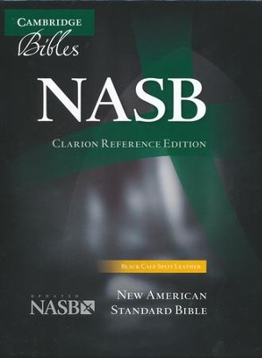 NASB Clarion Reference--calf-split leather, black   -