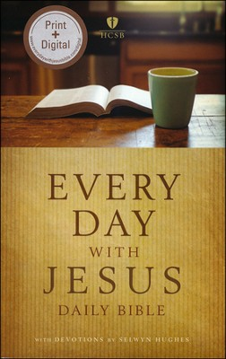 HCSB Every Day with Jesus Daily Bible A One-Year Reading Bible Paperback  -