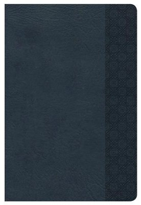 NKJV Large Print Personal Size Reference Bible, Slate Blue LeatherTouch  -
